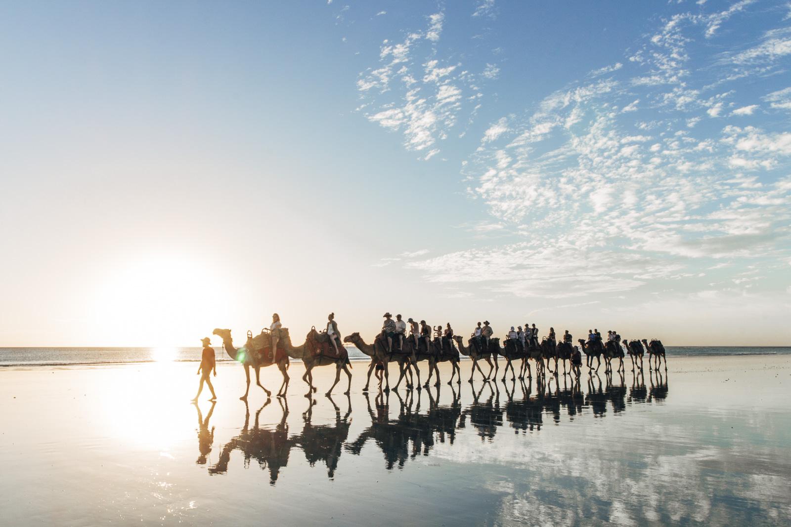 Cable Beach Reflection Camelride