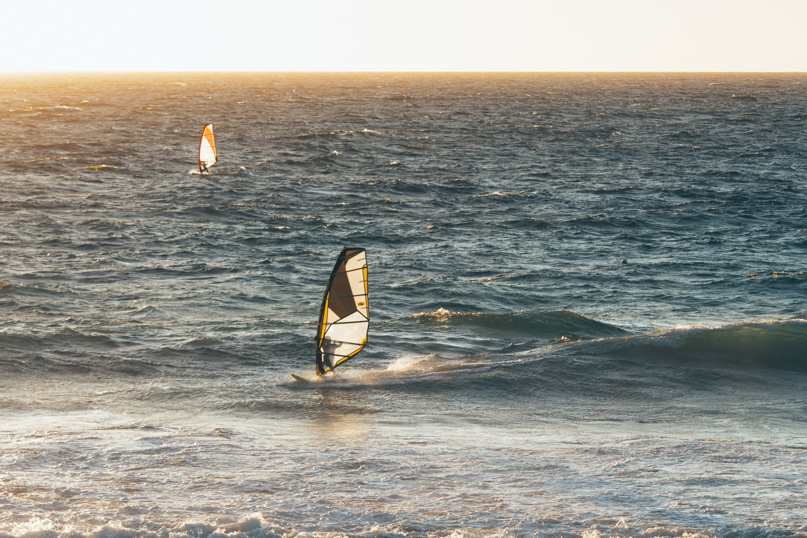 Wind Surfing in golden hour